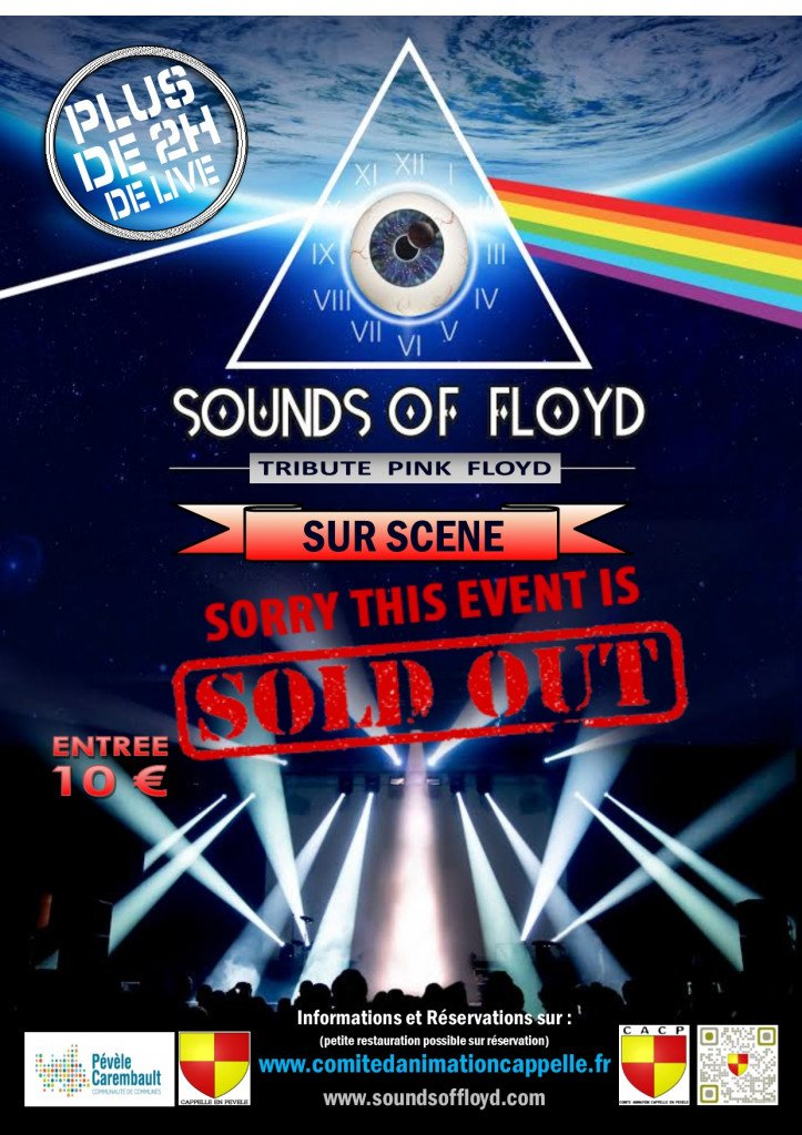 affiche sounds of floyd concert complet