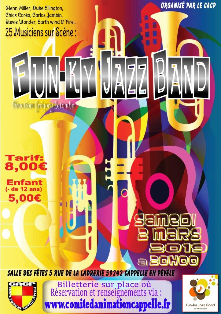 affiche fun ky jazz band